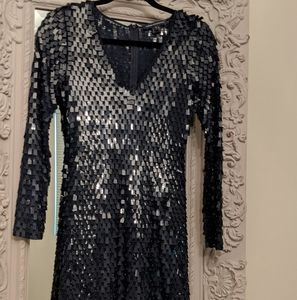 French Connection Square Sequined Dress
